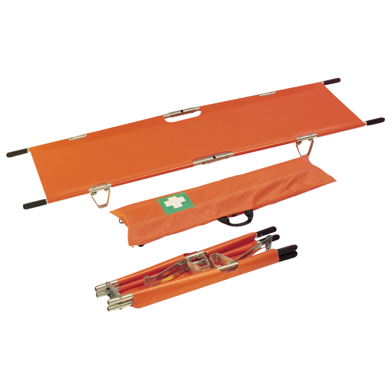 Double Foldable Stretcher with Carrying Bag