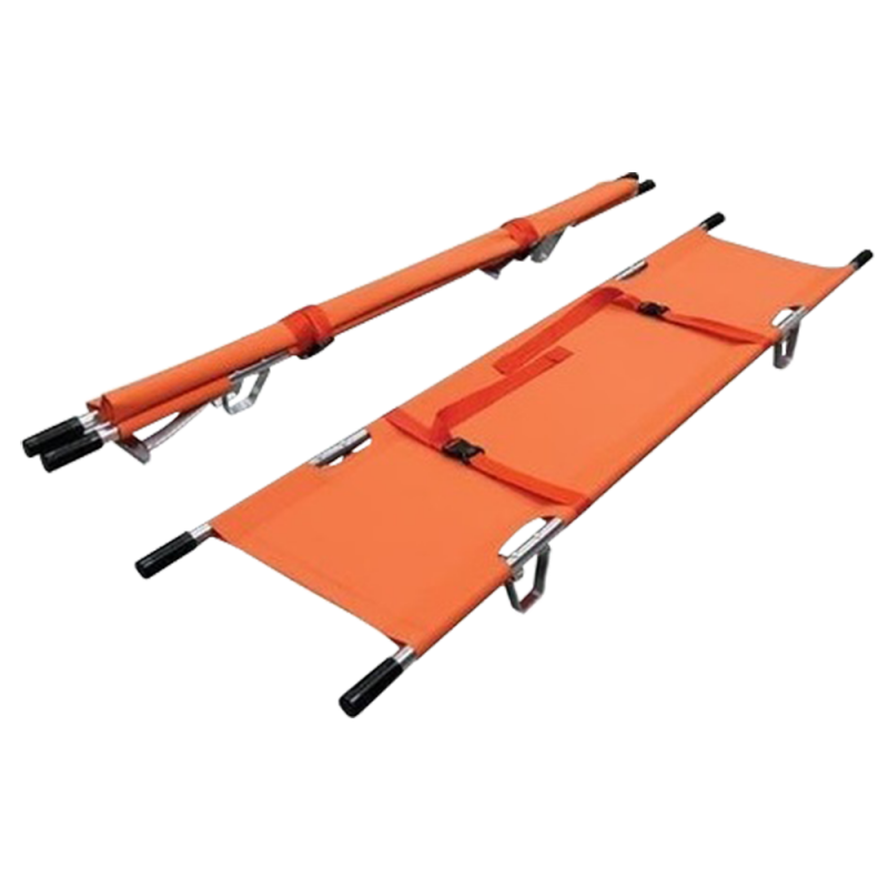 Single Foldable Stretcher with 2 strap