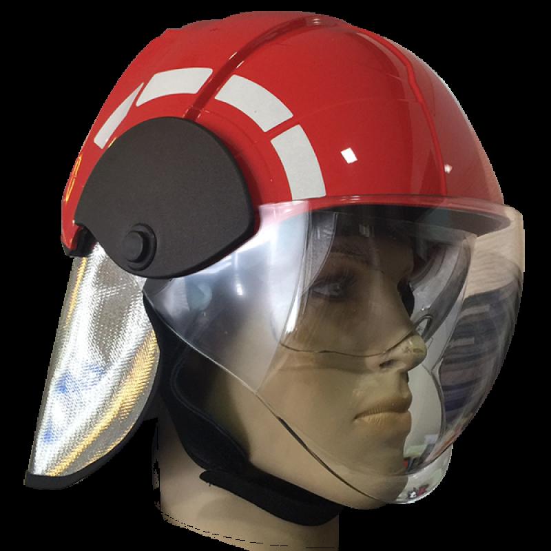 Fireman Helmet c/w Neck Cover and Visor