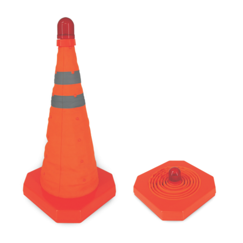 Retractable Cone with Hazard Warning Light
