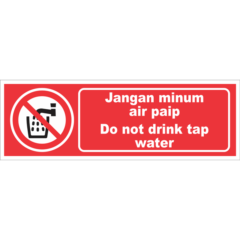 Do not drink tap water