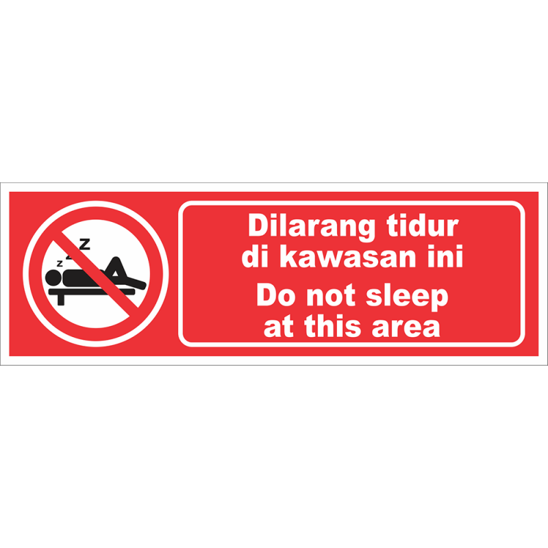 Do not sleep at this area