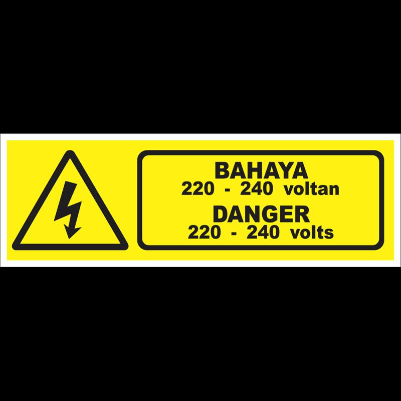 DANGER 220-240 volts