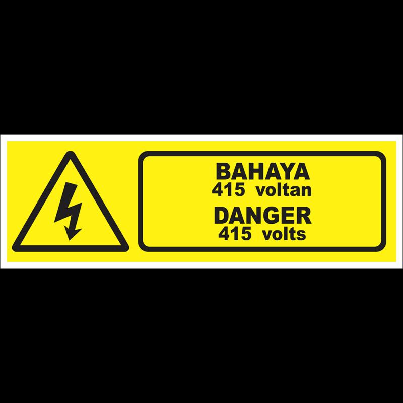DANGER 415 volts