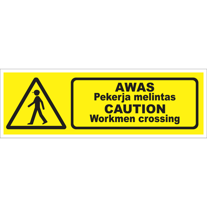 CAUTION Workmen crossing