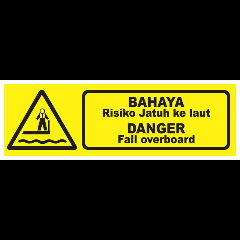 DANGER Fall overboard