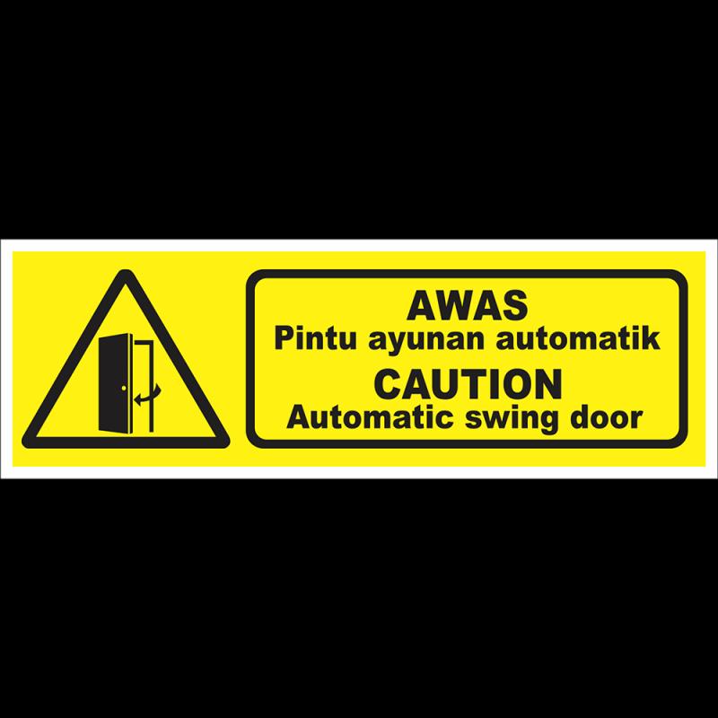 CAUTION Automatic swing door