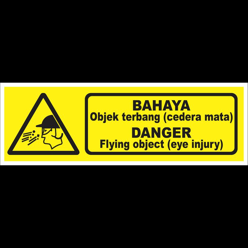 DANGER Flying object (eye injury)