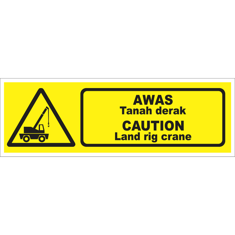 CAUTION Land rig crane