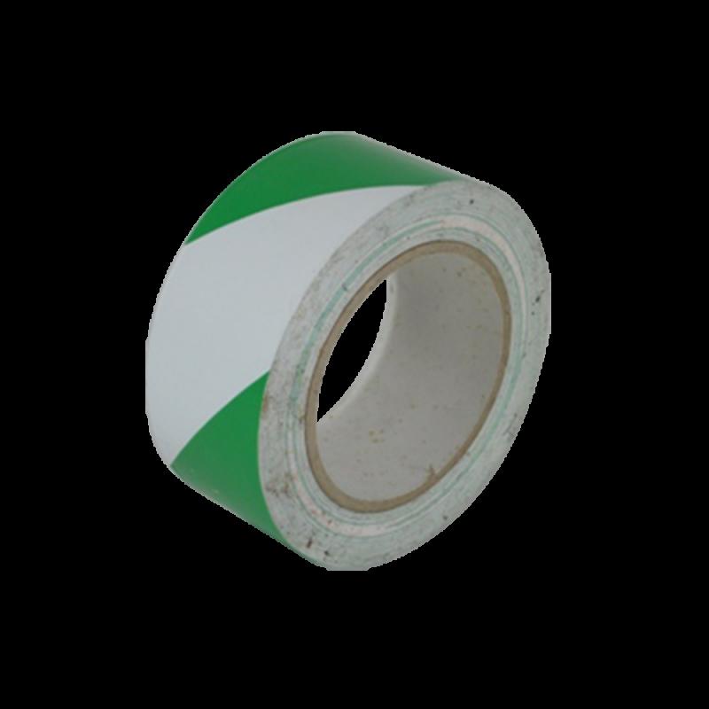 Safety Floor Tapes (Green White Stripe)